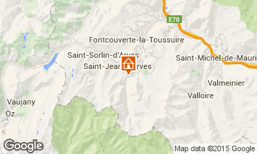 Map Saint Jean d'Arves Chalet 2501