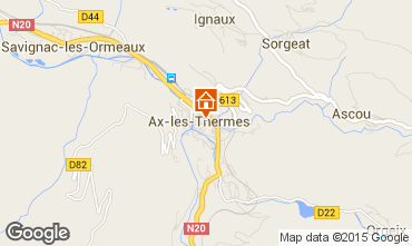 Map Ax Les Thermes Studio apartment 68397