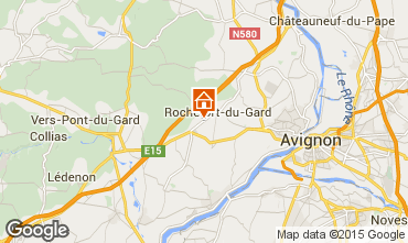 Map Avignon Self-catering property 33456
