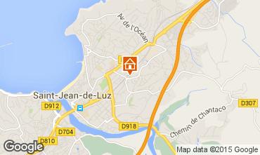 Map Saint Jean de Luz Studio apartment 9344