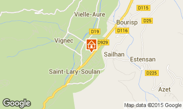 Map Saint Lary Soulan Studio apartment 28235