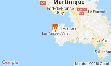 Map Anses d'Arlet Apartment 117070