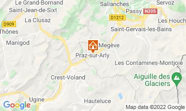 Map Praz sur Arly Apartment 2299