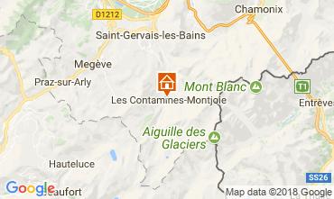 Map Les Contamines Montjoie Apartment 115102