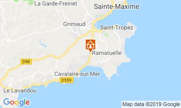 Map La Croix Valmer Studio apartment 119293