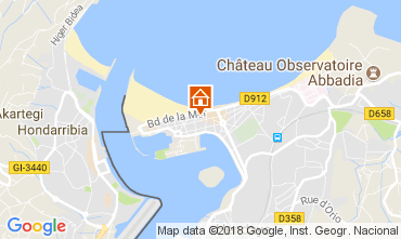 Map Hendaye Apartment 112931