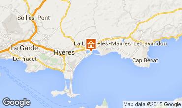 Map Hyères Apartment 28370