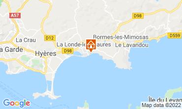 Map La Londe les Maures Apartment 61806