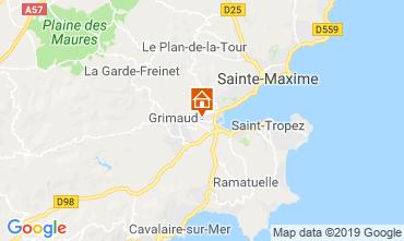 Map Saint Tropez Studio apartment 118192