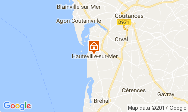 Map Hauteville-sur-Mer Self-catering property 40949