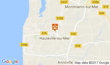 Map Hauteville-sur-Mer Self-catering property 40949