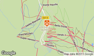 Map Les 2 Alpes Apartment 26960