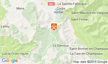 Map Superdévoluy- La Joue du Loup House 112275
