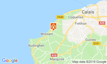 Map Wissant Self-catering property 115484