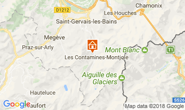 Map Les Contamines Montjoie Apartment 111733