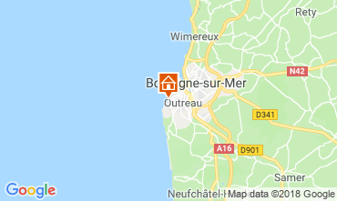 Map Boulogne/mer Self-catering property 108614