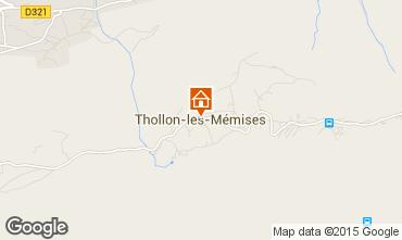 Map Thollon Les Mémises Apartment 27888