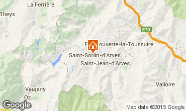 Map Saint Sorlin d'Arves Apartment 74669
