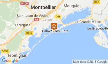 Map Palavas-les-Flots Apartment 17396