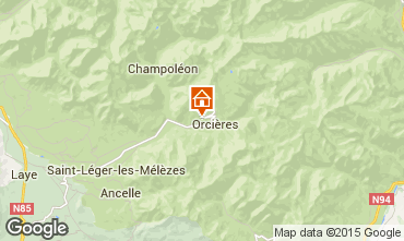 Map Orcières Merlette Self-catering property 81230