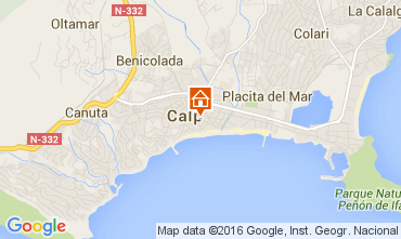 Map Calpe Apartment 85293