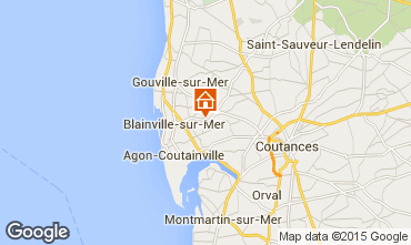 Map Blainville-sur-Mer Self-catering property 60256