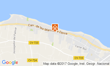 Map Denia Apartment 111027