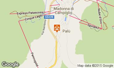 Map Madonna di Campiglio Apartment 79472