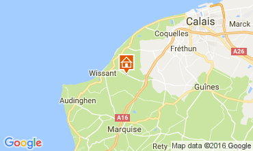 Map Wissant Self-catering property 107032