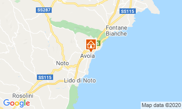 Map Avola Studio apartment 45891