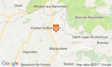 Map Vaison la Romaine House 110810