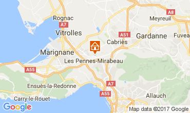 Map Aix en Provence Apartment 107983