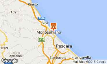 Map Montesilvano Marina Apartment 32579