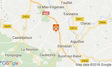 Map Casteljaloux Self-catering property 113847