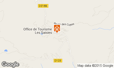 Map Les Saisies Studio apartment 73974