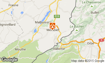 Map Métabief Self-catering property 74220