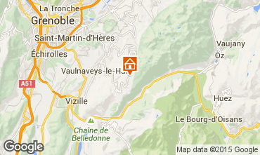 Map Chamrousse Studio apartment 757