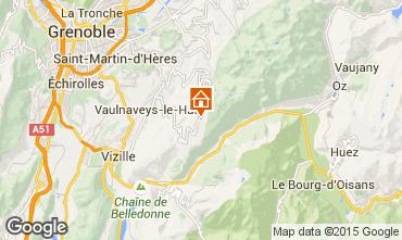 Map Chamrousse Studio apartment 757