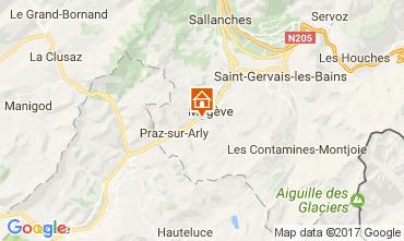 Map Megève Apartment 1524
