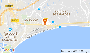 Map Cannes Apartment 95292