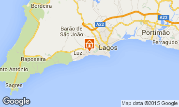 Map Praia da Luz Studio apartment 58019