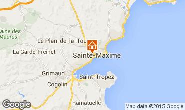 Map Sainte Maxime Apartment 72096