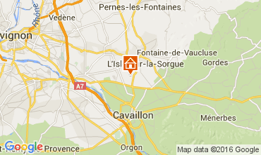 Map Isle sur la Sorgue Self-catering property 92591