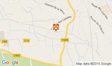 Map Isle sur la Sorgue Self-catering property 92591