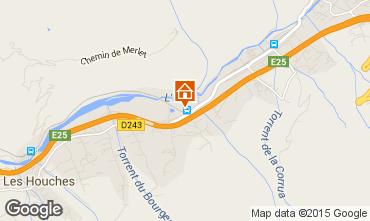 Map Chamonix Mont-Blanc Apartment 89182