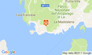 Map La Maddalena Apartment 53473