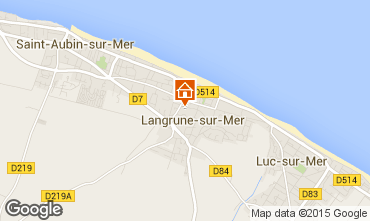 Map Luc sur Mer Self-catering property 10009