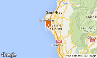 Map La Saline les Bains Villa 102442