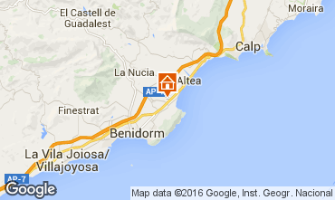 Map Benidorm Villa 92946
