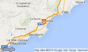 Map Benidorm Villa 92946